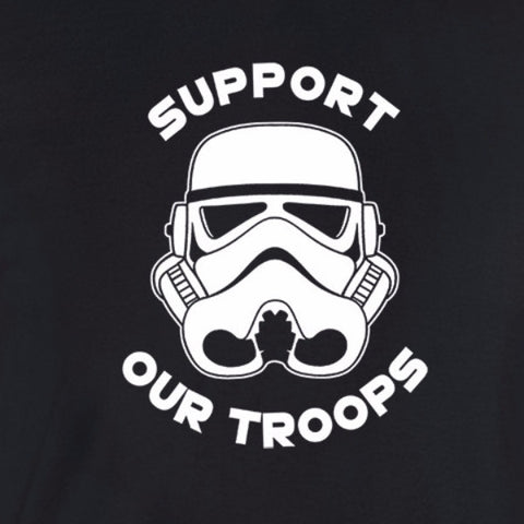 020c02581 star wars inspired support our troops black t shirt white print black shirt  storm trooper helmet