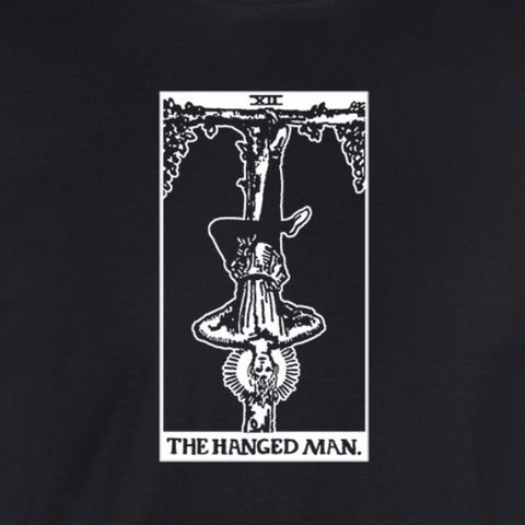hanged man tarot card shirt black