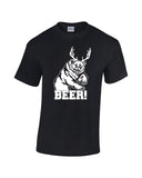 bear plus antlers equals bear white print black shirt always sunny mac charley
