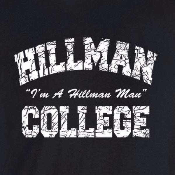 hillman college I'm a man cosby black t-shirt