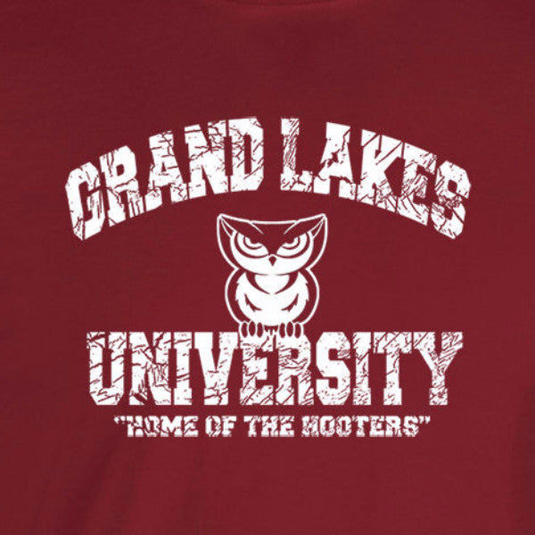 grand lakes university back to school dangerfield funny cardinal red t-shirt
