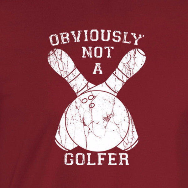obviously not a golfer big lebowski bowling cardinal red t-shirt