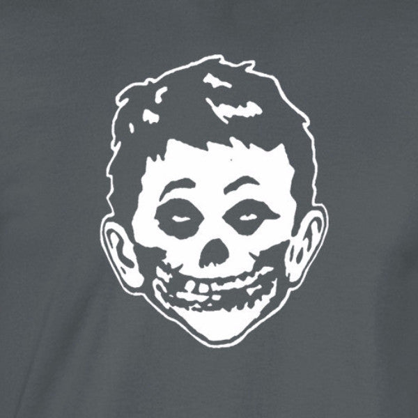 mad misfits shirt white print charcoal shirt - wicked moxie - edward ghost crimson newman