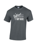 jolliest bunch of assholes this side of the nut house christmas vacation funny holiday charcoal grey t-shirt