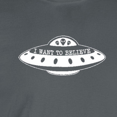 i want to believe x-files ufo aliens charcoal grey t-shirt
