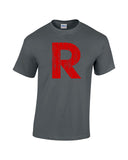 team rocket r shirt charcoal