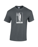 hermit tarot card shirt charcoal