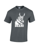 bear plus antlers equals bear white print charcoal shirt always sunny mac charley