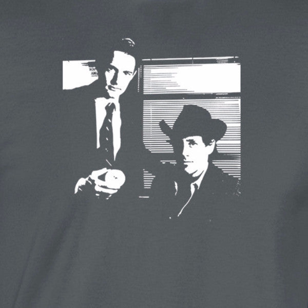 twin peaks dale cooper and harry truman doughnut shirt charcoal