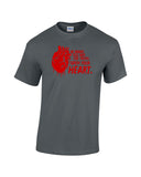 preacher inspired quote be brave tell her the truth open your heart with bloody dripping heart to left of text red print charcoal shirt - wicked moxie - burwell fandom arseface jesse custer