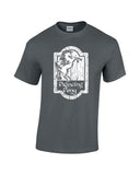 prancing pony shirt charcoal shirt white print wicked moxie