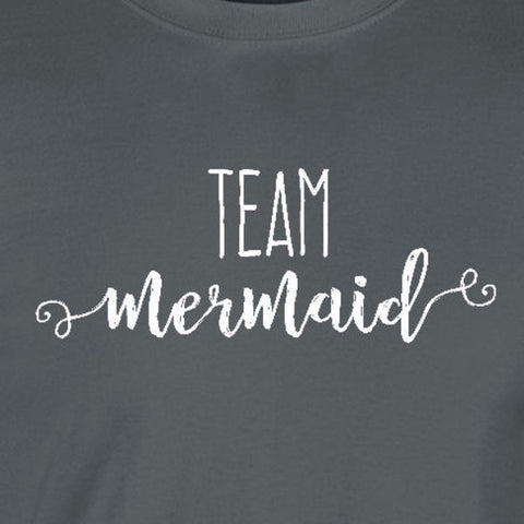 49dbddebc team mermaid tumblr fabulous script charcoal grey t-shirt