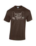 Hodor Not All Heroes Wear Capes written on scroll brown shirt white print game of thrones bran stark