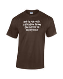 Art is our only salvation from the horror of existence brown shirt