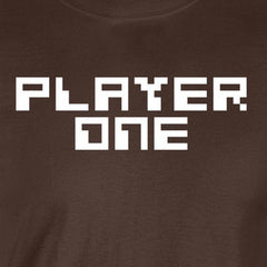 player one gamer retro nes nintendo big brother couple chocolate brown t-shirt