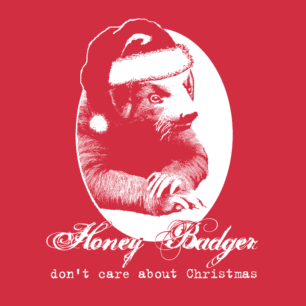 Honey badger Christmas unisex tee red vintage funny anti short sleeve t-shirt