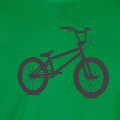 bmx sillhouette bicycle dave mirra charcoal ink irish green t-shirt