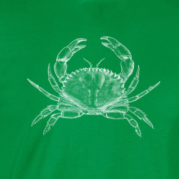 white crab vintage illustration ocean deadliest catch irish green t-shirt