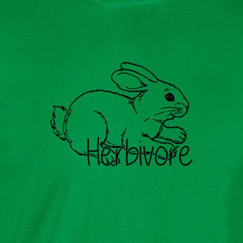 herbivore rabbit bunny vegetarian vegan irish green t-shirt