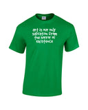 Art is our only salvation from the horror of existence irish green shirt