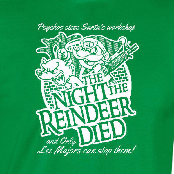 night the reindeer died youth t-shirt irish green scrooged bill murray holiday christmas santa short sleeve kids girls boys tee