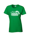 Bad santa sandwiches ladies tee irish green christmas holiday funny short sleeve t-shirt