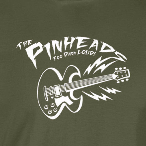 the pinheads back to the future marty mcfly guitar band military green t-shirt