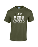 i am sherlocked distressed look white print military shirt - wicked moxie - sci fi sherlock holmes cumberbatch lestrade watson