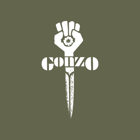 gonzo dagger hunter s thompson fist military green t-shirt