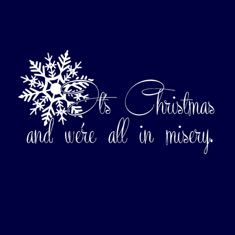 Christmas misery unisex tee vacation funny griswold navy blue short sleeve t-shirt