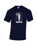 hermit tarot card shirt navy