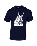 bear plus antlers equals bear white print navy shirt always sunny mac charley