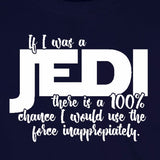 inappropriate jedi force funny star wars navy blue t-shirt