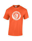 italian stallion boxing gym white print orange shirt - wicked moxie - balboa rocky