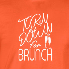 turn down for brunch shirt orange