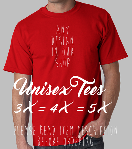 plus size unisex any design in the shop 3x 4x 5x big man mens t-shirt
