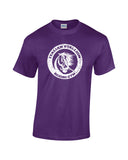 italian stallion boxing gym white print purple shirt - wicked moxie - balboa rocky