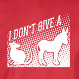 rats ass i don't give a funny silhouette red t-shirt
