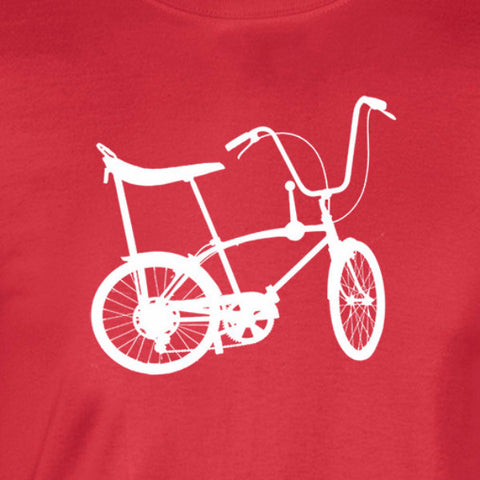 98cc50785 stingray bike silhouette white print red shirt - wicked moxie - schwin  mongoose vintage bmx
