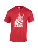 bear plus antlers equals bear white print red shirt always sunny mac charley