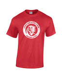 italian stallion boxing gym white print red shirt - wicked moxie - balboa rocky