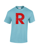 team rocket r shirt light blue