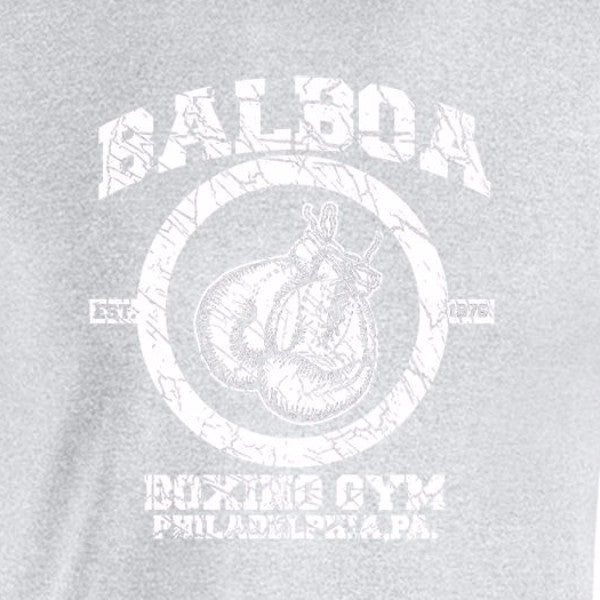 rocky balboa boxing gym sports grey t-shirt