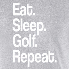 eat sleep golf repeat sports fan motivation golfer dad gift sports grey t-shirt