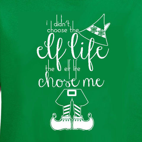 Elf life youth tee irish green Christmas holiday north pole funny will ferrel text short sleeve graphic kids boy girl t-shirt