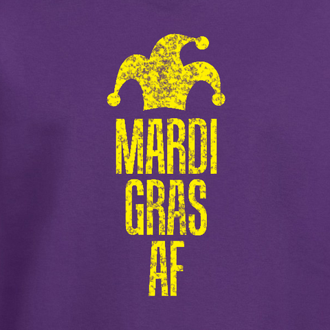 Mardi Gras AF Jester Kids T-shirt - Yellow Ink