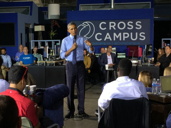 LA TIMES: Obama touts tech innovation during visit to Cross Campus