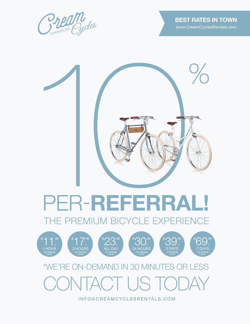 Cream Cycles: Bicycle Rental Co. Official
