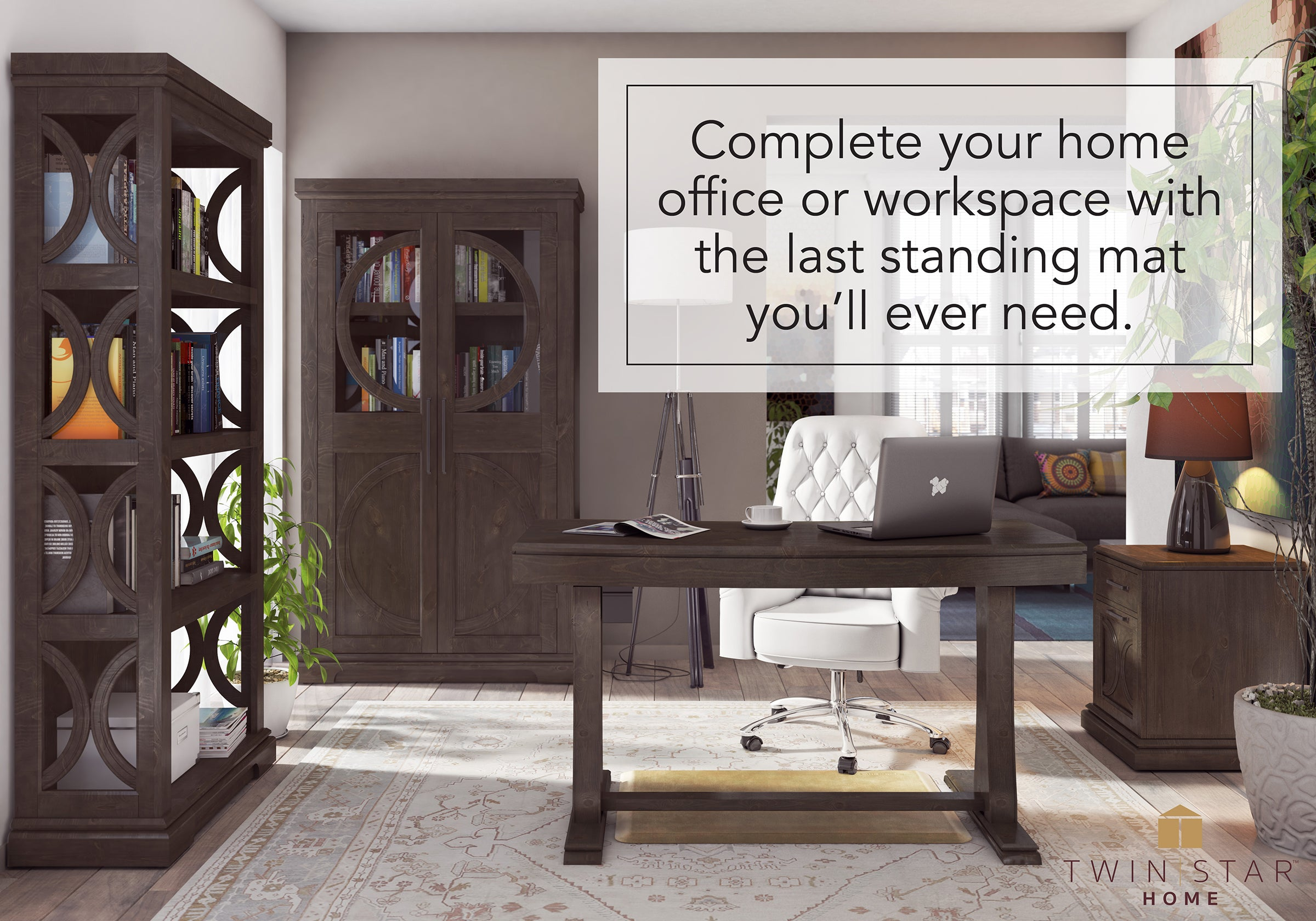 Home office standing desk Tall Standing Complete Your Home Office Or Workspace With The Last Standing Mat Youll Ever Need Wellnessmats Standing Desk Mats Wellnessmats