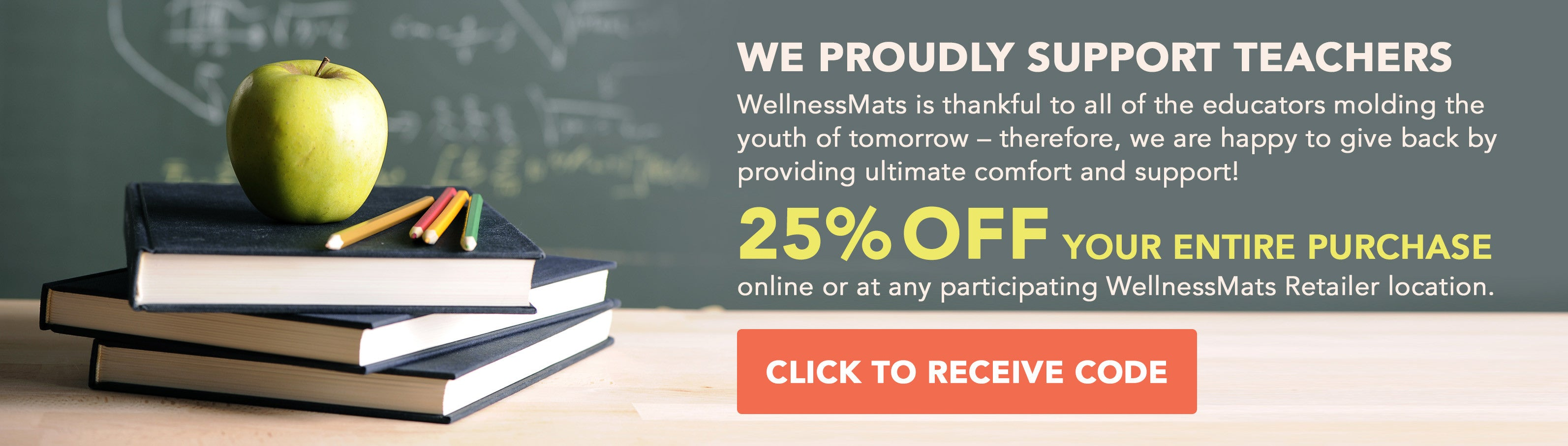 25% off WellnessMats for Teachers